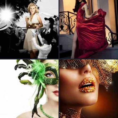 4 фото одно слово девушки в масках